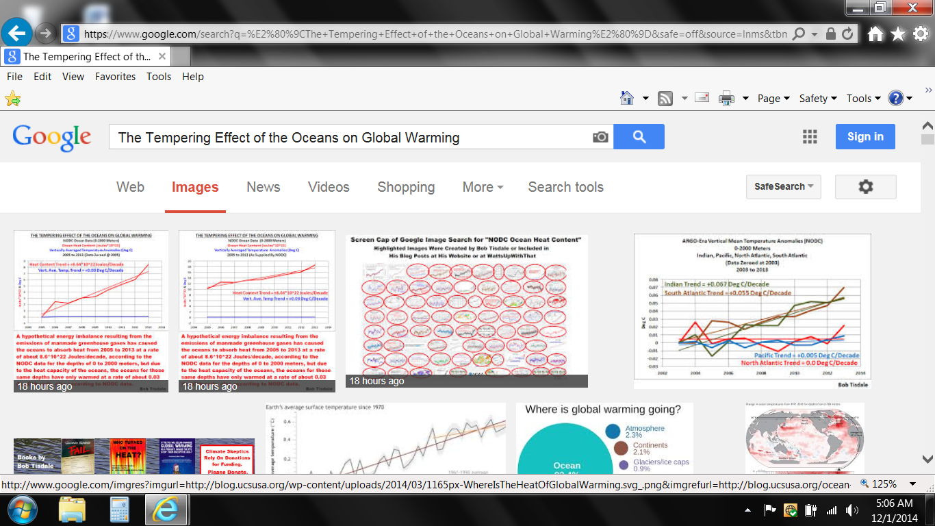 Google Image Search Tempering Effect of Oceans on Global Warming