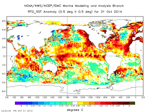 NOAA map of ocean temps is accurate