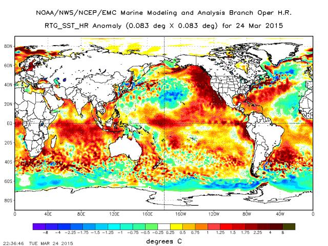 NOAA RTG SST Map