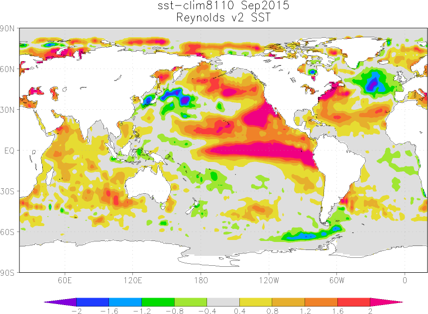 September 2015 sea surface temperature sst anomaly update bob 00 map september 2015 sea surface temperature gumiabroncs Gallery