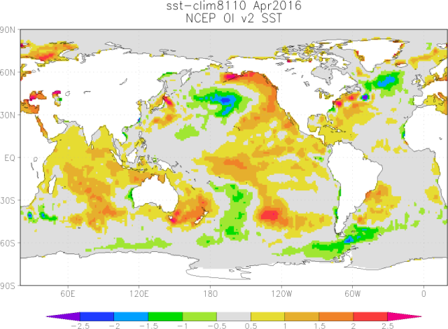 00 April 2016 SSTa Map